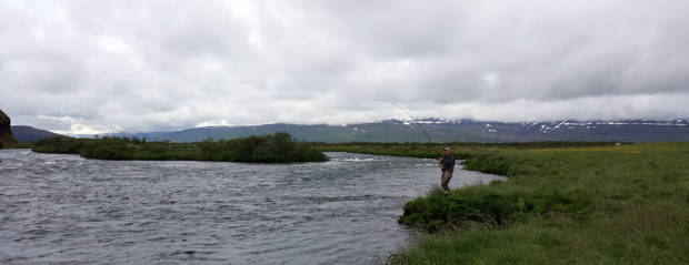Fly fishing in Iceland – Laxá Aðaldal – icelandfishingguide.com