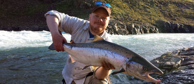 Fly fishing in Iceland – Fnjóská – icelandfishingguide.com
