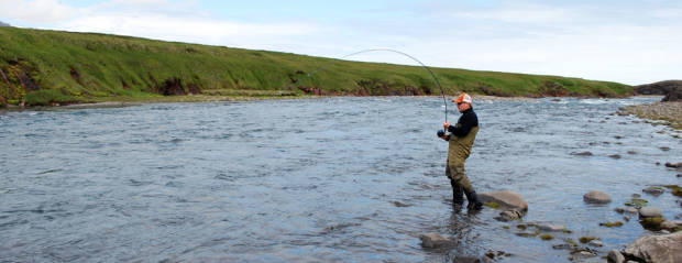 Fly fishing in Iceland – Jökla – icelandfishingguide.com